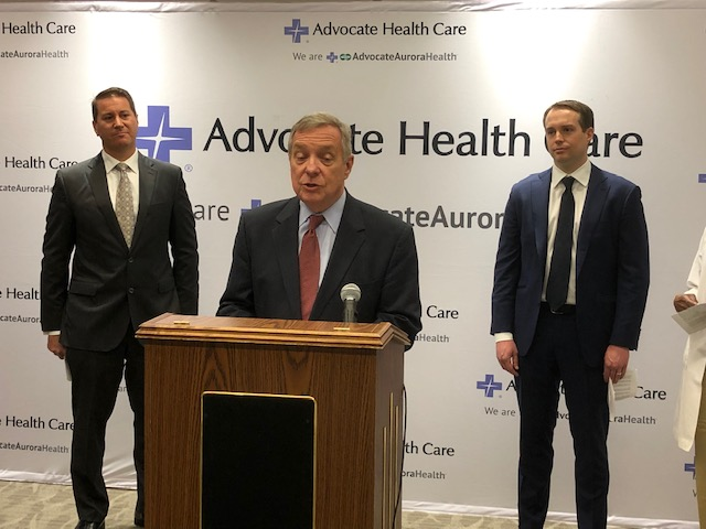 Durbin wants to codify Trump rule requiring drug prices in TV ads