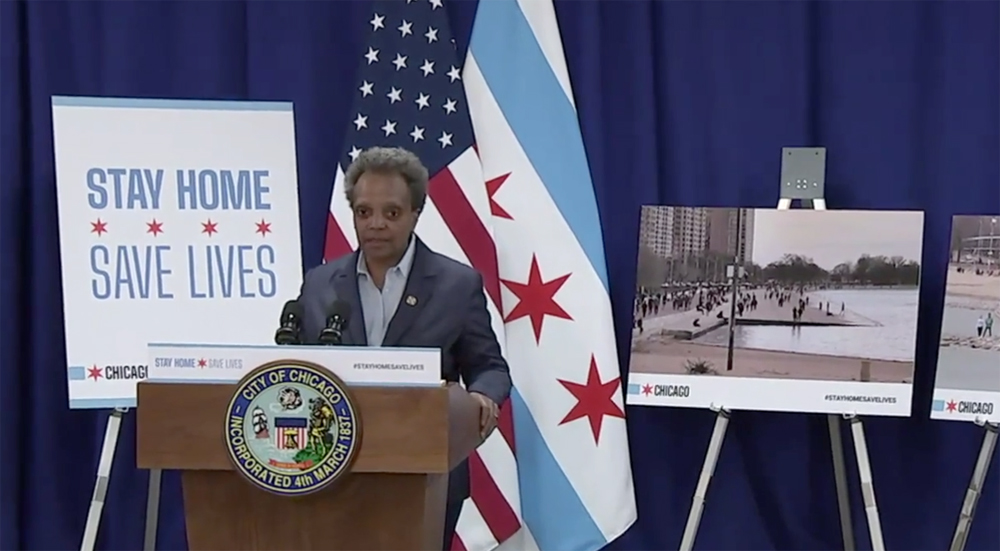Chicago to close lakefront to public