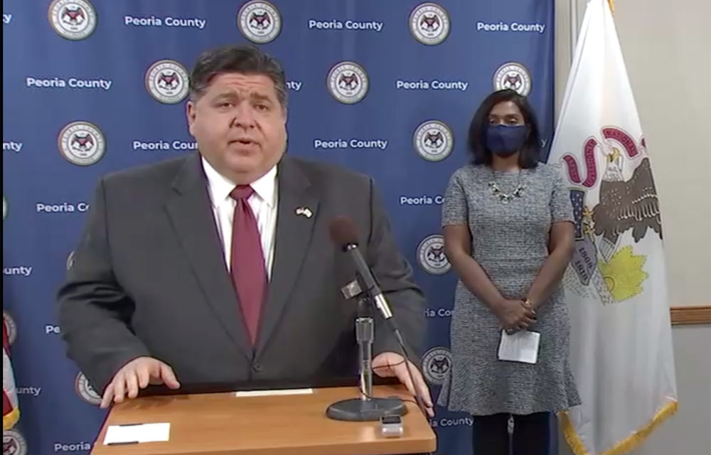 Pritzker says Peoria region close to tighter restrictions